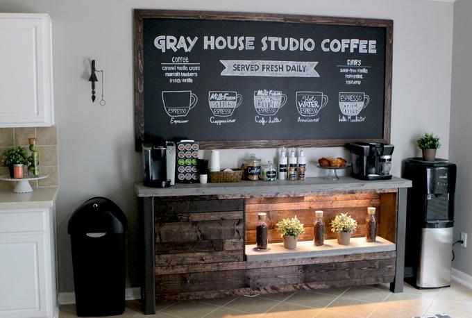 お家の中へコーヒーBAR(カウンター)をDIY!